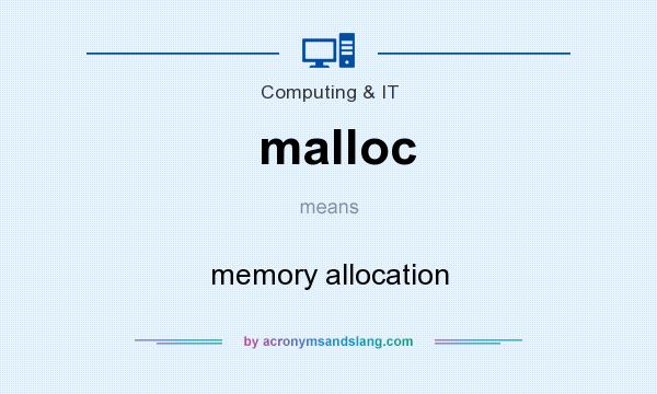 What does malloc mean? It stands for memory allocation