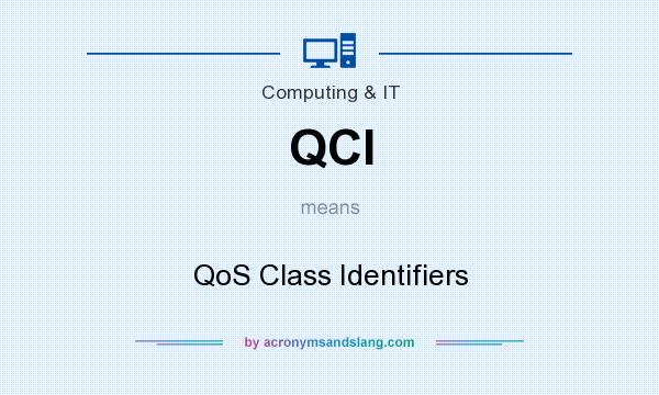 What does QCI mean? It stands for QoS Class Identifiers