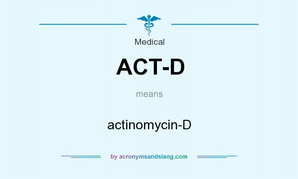 What does ACT-D mean? It stands for actinomycin-D