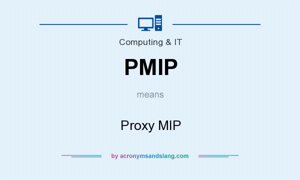 What does PMIP mean? It stands for Proxy MIP