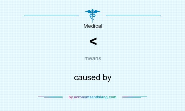 What does < mean? It stands for caused by