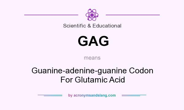 What does GAG mean? It stands for Guanine-adenine-guanine Codon For Glutamic Acid