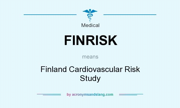 What does FINRISK mean? It stands for Finland Cardiovascular Risk Study