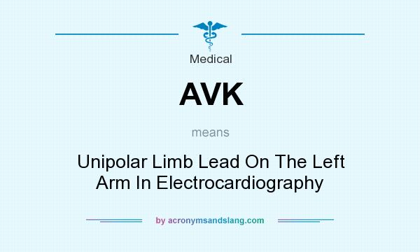 What does AVK mean? It stands for Unipolar Limb Lead On The Left Arm In Electrocardiography