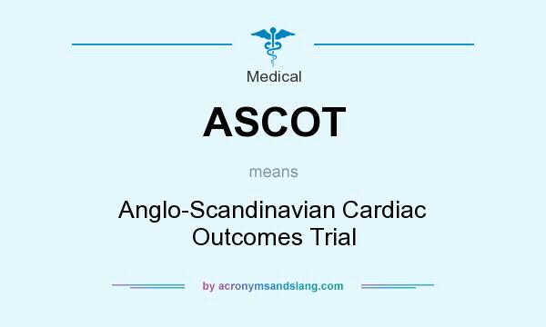 What does ASCOT mean? It stands for Anglo-Scandinavian Cardiac Outcomes Trial