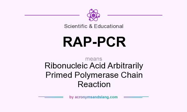 What does RAP-PCR mean? It stands for Ribonucleic Acid Arbitrarily Primed Polymerase Chain Reaction