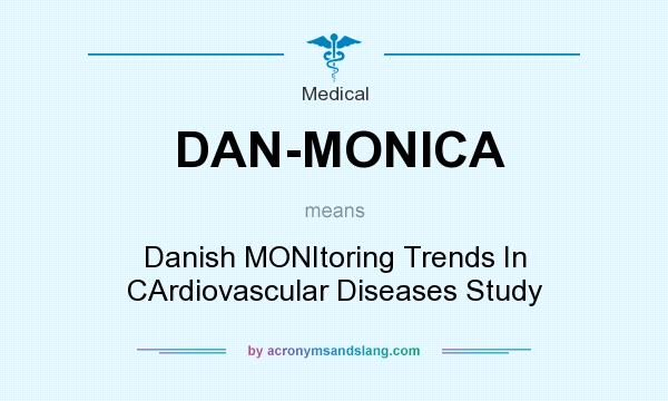 What does DAN-MONICA mean? It stands for Danish MONItoring Trends In CArdiovascular Diseases Study