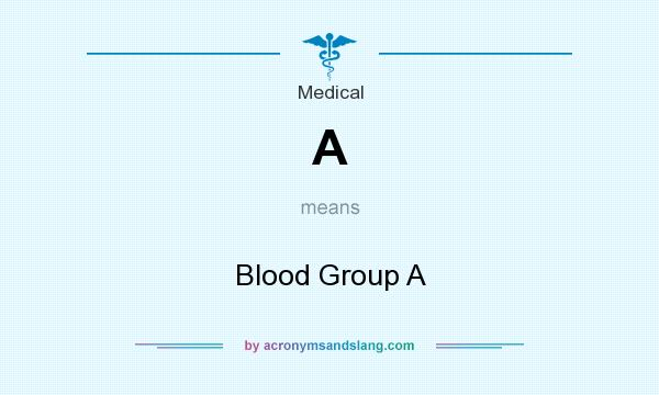 What does A mean? It stands for Blood Group A