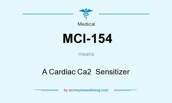 What does MCI-154 mean? It stands for A Cardiac Ca2  Sensitizer