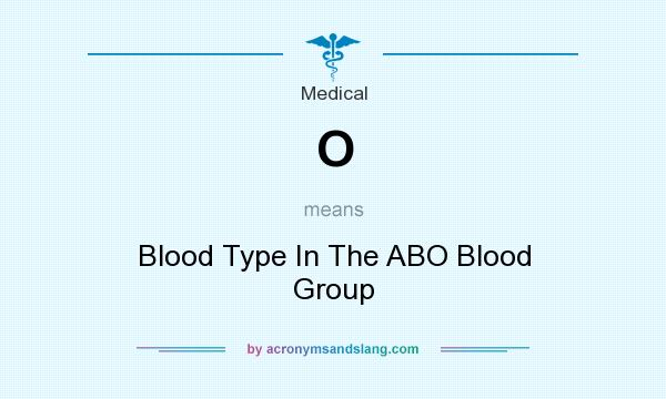 What does O mean? It stands for Blood Type In The ABO Blood Group