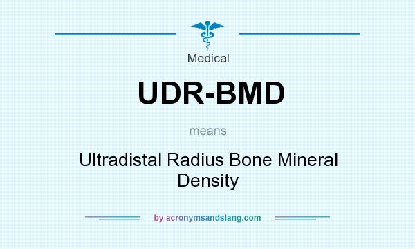 What does UDR-BMD mean? It stands for Ultradistal Radius Bone Mineral Density