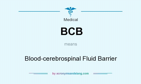 What does BCB mean? It stands for Blood-cerebrospinal Fluid Barrier