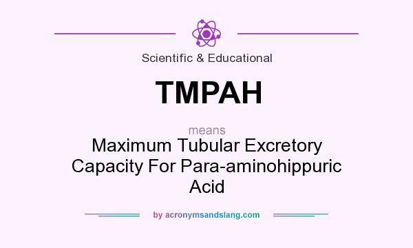 What does TMPAH mean? It stands for Maximum Tubular Excretory Capacity For Para-aminohippuric Acid