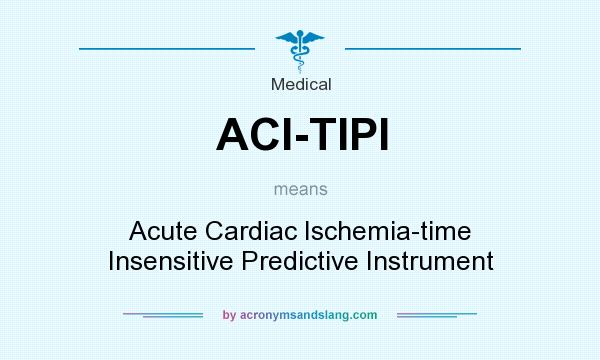 What does ACI-TIPI mean? It stands for Acute Cardiac Ischemia-time Insensitive Predictive Instrument