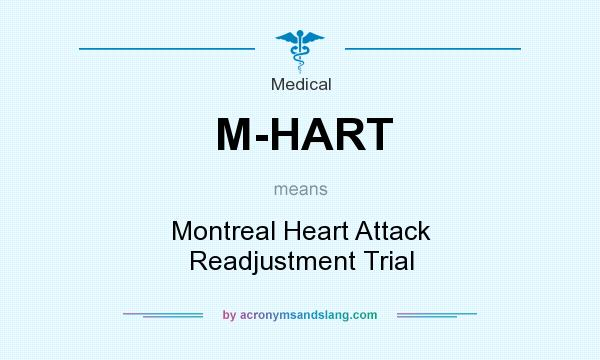 What does M-HART mean? It stands for Montreal Heart Attack Readjustment Trial