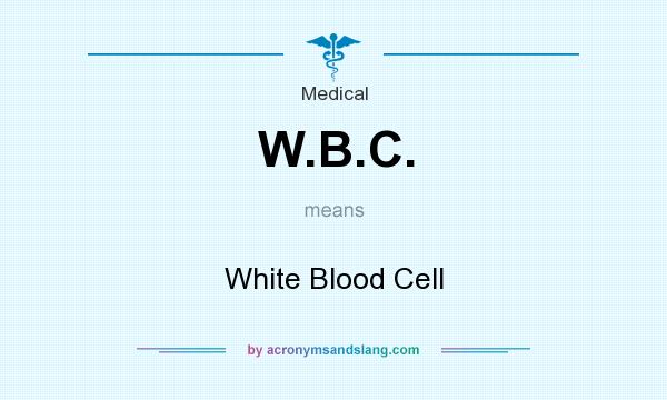 What does W.B.C. mean? It stands for White Blood Cell