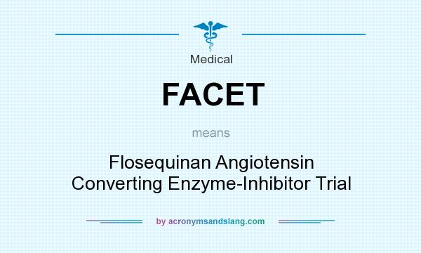 What does FACET mean? It stands for Flosequinan Angiotensin Converting Enzyme-Inhibitor Trial