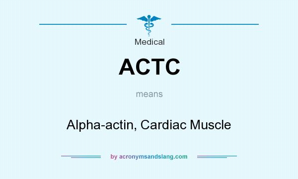 What does ACTC mean? It stands for Alpha-actin, Cardiac Muscle