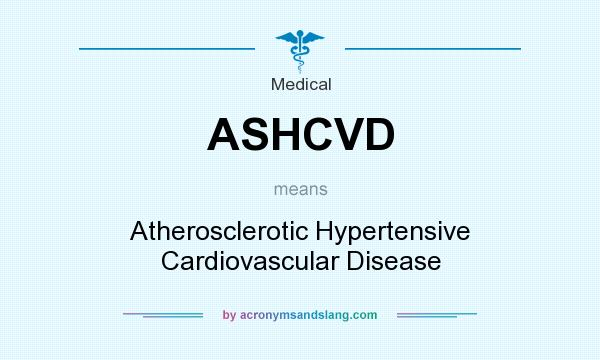 What does ASHCVD mean? It stands for Atherosclerotic Hypertensive Cardiovascular Disease