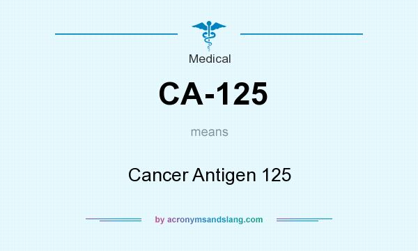 What does CA-125 mean? It stands for Cancer Antigen 125