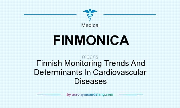 What does FINMONICA mean? It stands for Finnish Monitoring Trends And Determinants In Cardiovascular Diseases