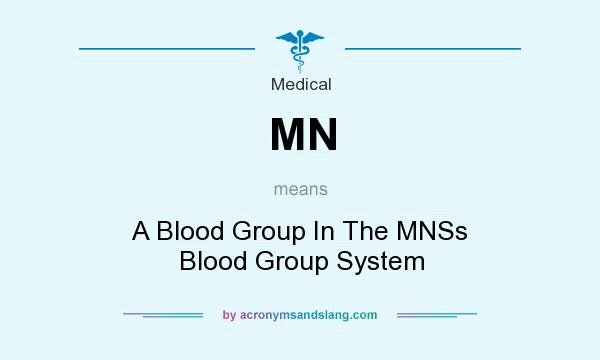 What does MN mean? It stands for A Blood Group In The MNSs Blood Group System
