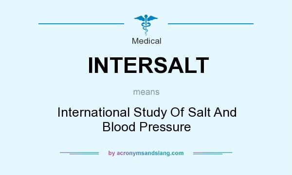 What does INTERSALT mean? It stands for International Study Of Salt And Blood Pressure