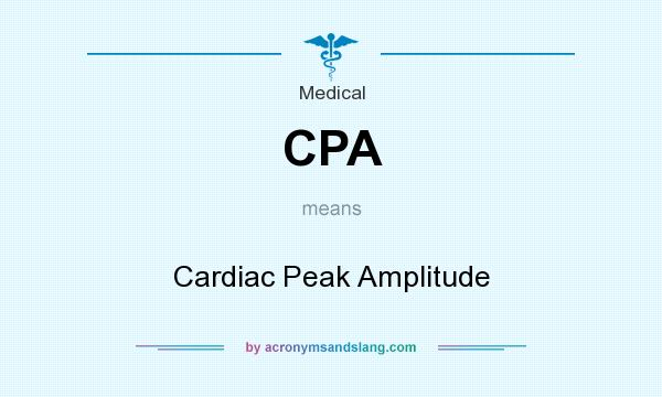 What does CPA mean? It stands for Cardiac Peak Amplitude