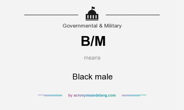 What does B/M mean? It stands for Black male