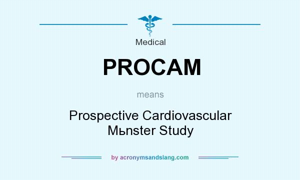 What does PROCAM mean? It stands for Prospective Cardiovascular Mьnster Study