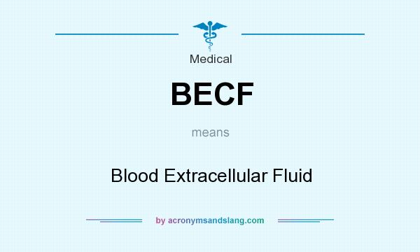 What does BECF mean? It stands for Blood Extracellular Fluid