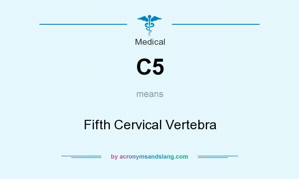 What does C5 mean? It stands for Fifth Cervical Vertebra