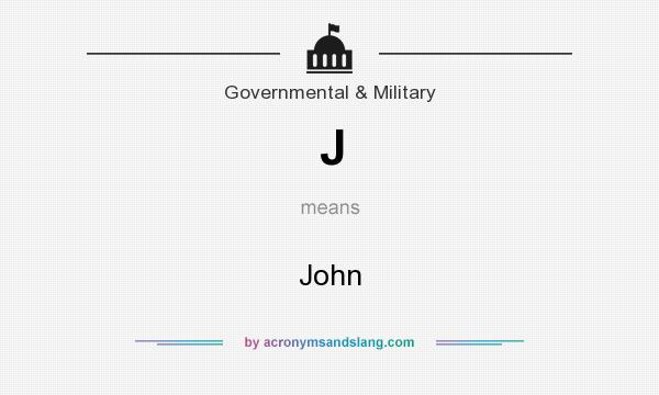 What does J mean? It stands for John