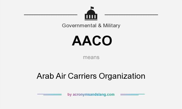 What does AACO mean? It stands for Arab Air Carriers Organization