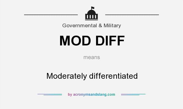 What does MOD DIFF mean? It stands for Moderately differentiated