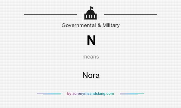 What does N mean? It stands for Nora