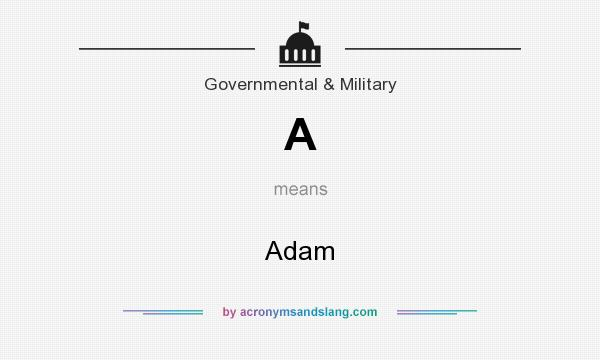 What does A mean? It stands for Adam