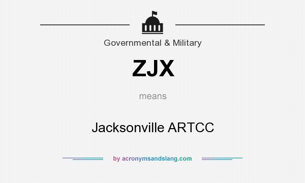 What does ZJX mean? It stands for Jacksonville ARTCC