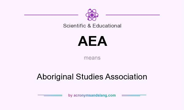 What does AEA mean? It stands for Aboriginal Studies Association