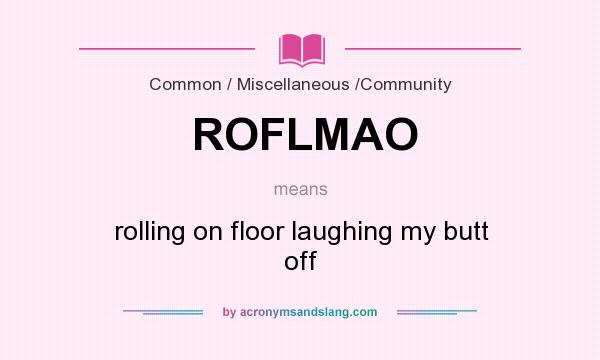 Roflmao stands for