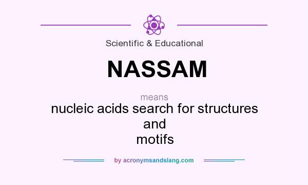 What does NASSAM mean? It stands for nucleic acids search for structures and motifs