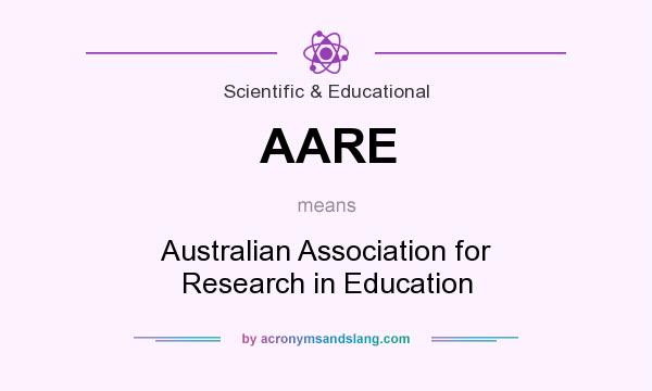 What does AARE mean? It stands for Australian Association for Research in Education