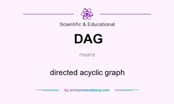 What does DAG mean? It stands for directed acyclic graph