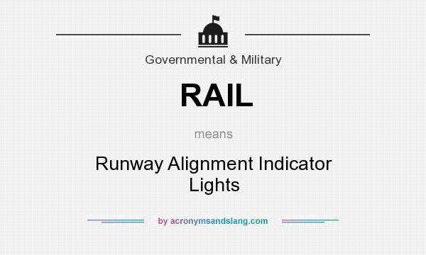 What does RAIL mean? It stands for Runway Alignment Indicator Lights