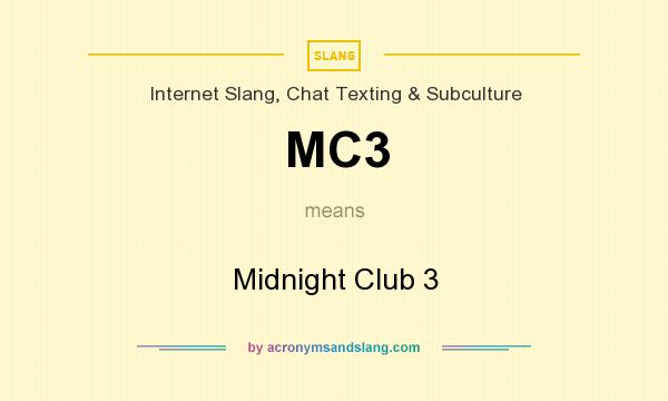What does MC3 mean? It stands for Midnight Club 3