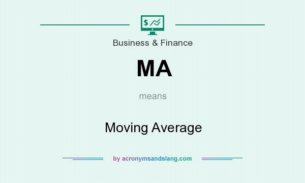 What does MA mean? It stands for Moving Average