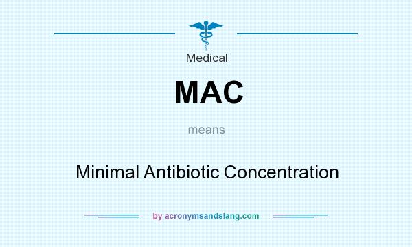 What does MAC mean? It stands for Minimal Antibiotic Concentration