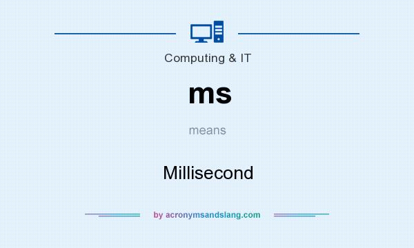 What does ms mean? It stands for Millisecond