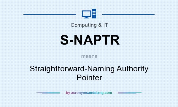 What does S-NAPTR mean? It stands for Straightforward-Naming Authority Pointer