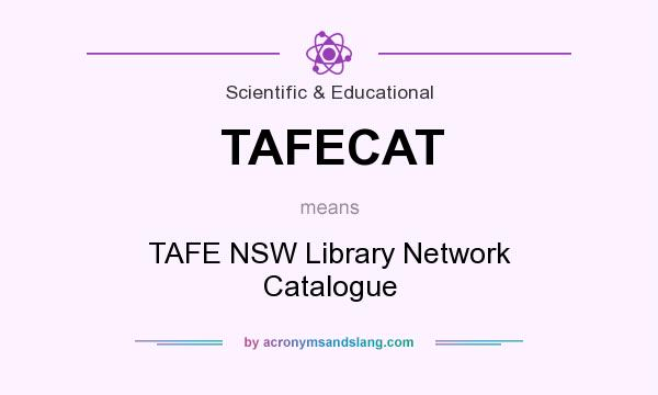 What does TAFECAT mean? It stands for TAFE NSW Library Network Catalogue